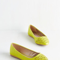 ModCloth Bold Boost Flat in Citrus