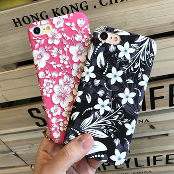 Classic Floral Case for iPhone 7 7Plus & iPhone se 5s 6 6 Plus High Quality Cover +Gift Box