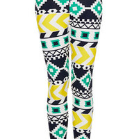 Waffle Aztec Leggings - Leggings  - Clothing
