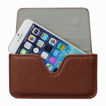 For iPhone7+ Leather Case Pouch, Holster Belt Loop Clip Magnetic Button Closure Cover for iPhone 6 Plus / 6s Plus (5.5 inch)
