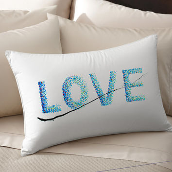 2 Colorful, Decorative, LOVE, cotton, Pillowcase, pillow, case, cover, art, of, koby feldmos, 18X18 inch ,20X30 inch, color bedroom