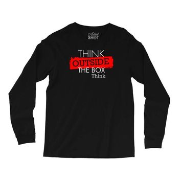 think outside the box thinker Long Sleeve Shirts