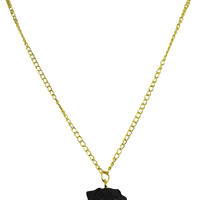 I Love My Pug - Black Pug Charm Necklace