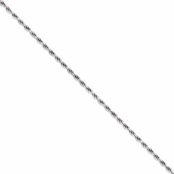 925 Sterling Silver 1.75mm Rope Chain Necklace