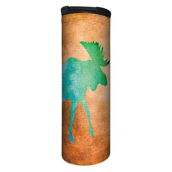 Vibrant Moose Barista Tumbler Travel Mug - 17 Ounce, Spill Resistant, Stainless Steel & Vacuum Insulated