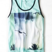AEO Men's Photo Real Graphic Tank (Sea Foam Surf)