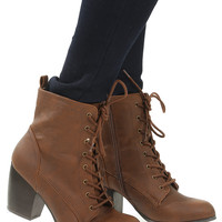 Running Through My Mind Booties: Brown