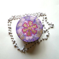 Gold snowflake jewelry box for girl