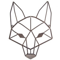 Brown Geometric Fox Head Metal Wall Decor | Hobby Lobby | 1280874