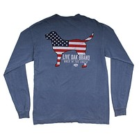 American Dog Long Sleeve Tee in Blue Jean by Live Oak - FINAL SALE