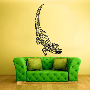 rvz1515 Wall Vinyl Sticker Decals Decor Alligator Crocodile Croc Thailand Skin