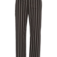 Balenciaga - Striped cotton-poplin straight-leg pants