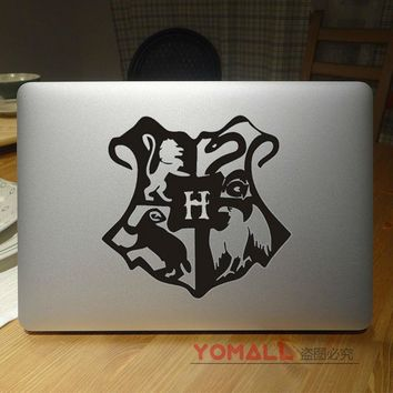 "Hogwarts Badge Harry Potter Laptop Decal Sticker for Apple Macbook Pro Air Retina 11 12"" 13"" 15"" Mac HP Acer Notebook Cover Skin"