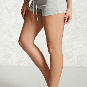 Ribbed Knit PJ Shorts