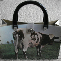 Pink Floyd Cow Record Album Purse