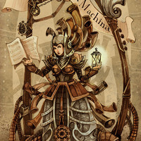 Musica ex Machina steampunk print by theGorgonist on Etsy