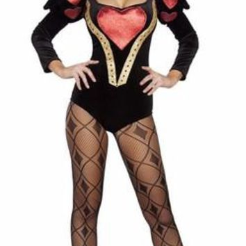 Sexy Rhinestone Queen of Villainous Hearts Halloween Costume