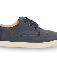 Navy Synthetic Leather Women's Paseos