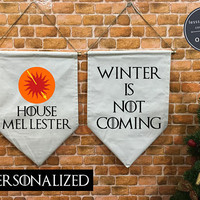 Custom Personalized HOUSE Martell Game of Thrones banner flag and hanging device, wall banner flag, wall hanging decoration funny gifts