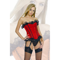Sexy Red Lace Strapless Satin Stabilized Yarn Corset [TML0419] - $42.00 : Zentai, Sexy Lingerie, Zentai Suit, Chemise