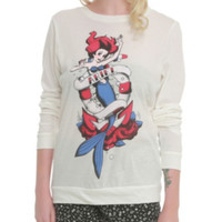 Disney The Little Mermaid Ariel Tattoo Girls Pullover Top