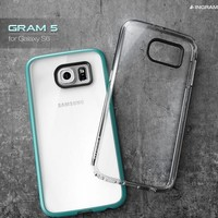 Ingram Gram5 Transparent Bumper Case with Clear Back for Galaxy S6