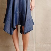 Chambray Hanky Hem Skirt by HD in Paris Denim
