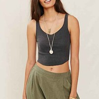 Urban Renewal Raw Edge Rib Tank Top-