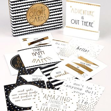 Uplifting Quote Cards Set (12cm x 4cm x 15cm) - Matalan