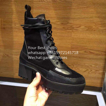 2016 Red Carpet Shoes Palm Canyon Desert Boot real leather buckle strap lace up platform middle boots women's combat boots