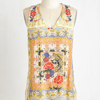 ModCloth Boho Mid-length Sleeveless Midday Melange Top