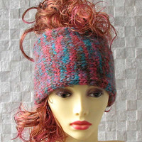 Colorful  Soft knitted headband, Ladies wide hair accessory, winter earwarmer  knitted hair wrap
