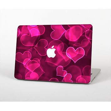 The Glowing Pink Outlined Hearts Skin for the Apple MacBook Air 13""