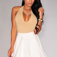 White Mini Skater Skirt