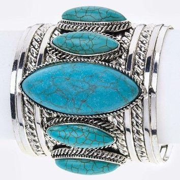 Pacific Waves Turquoise Cuff