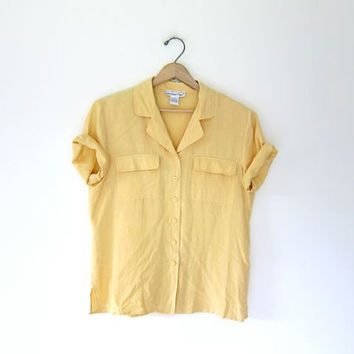 Shop Button Down Women's Short Sleeve Shirts on Wanelo