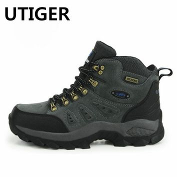 size 36-44 Men women Hiking Shoes Sport waterproof Leather Outdoor Shoes Mountain Climbing Boots shoes Botas Zapatos Hombre HW65