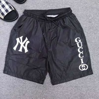 GUCCI x NY Newest Fashion Men Casual Print Sport Running Shorts