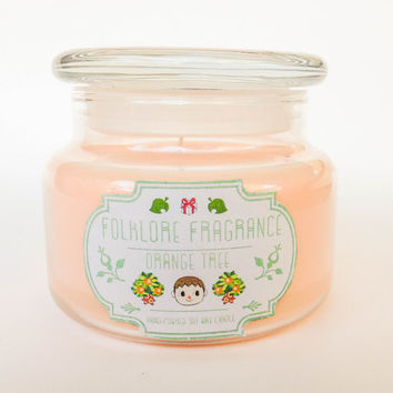 Orange Tree - Animal Crossing Inspired Scented Soy Candle (Mandarin + Sweet Orange)