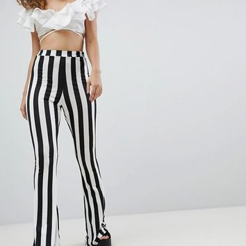 Rokoko Flared Pants In Stripe at asos.com