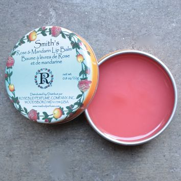 Smith's rose + mandarin lip balm