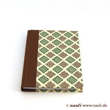 Weekly Planner 2015 checked brown green beige