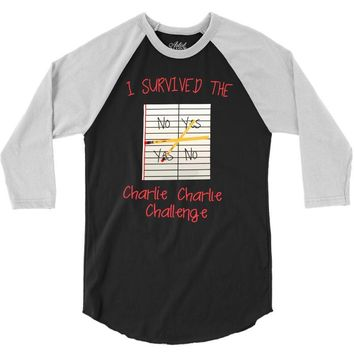 i survived charlie charlie 3/4 Sleeve Shirt