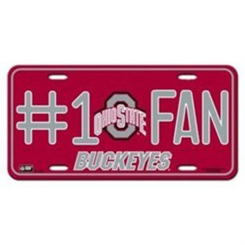 License Plate Ohio State Buckeyes #1 Fan License Plate Baseball National Collegiate Athletic Association Ncaa College Fan Accessories