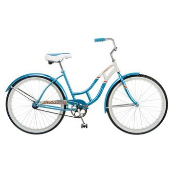 "Schwinn Womens Legacy 26"" Cruiser Bike - Light Blue/White"