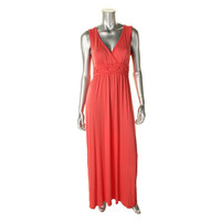Studio M Womens Jersey Surplice Maxi Dress