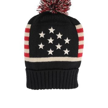 Armitage Avenue Star and Stripes Pom Hat
