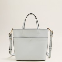 Pebbled shopper bag - Women | MANGO USA
