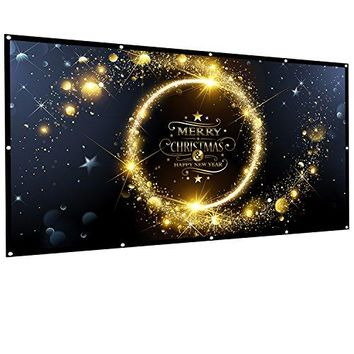 Owlenz 100 inch Projection Screen 16:9  Portable Projector Movies