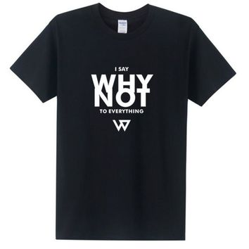 I Say Why Not To Everything Westbrook T Shirts Men 2017 Short Sleeve Cotton Russell Westbrook Shirt Tops Tees